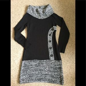 Junior small black and grey knit dress